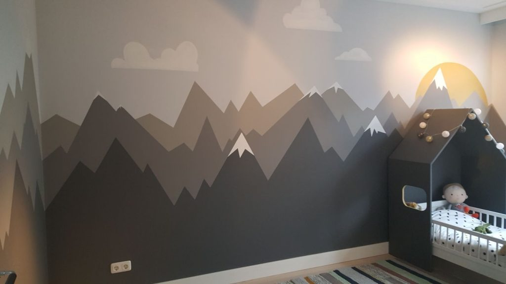 Decoratief schilderwerk kinderkamer